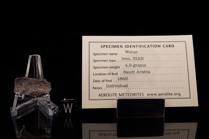 Wabar 4.9 Grams with specimen id card